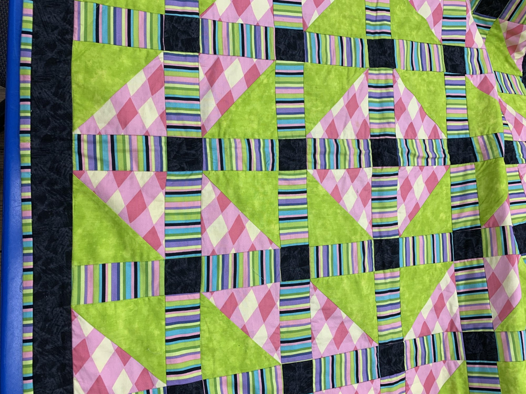LIME ZIP QUILT SAMPLE