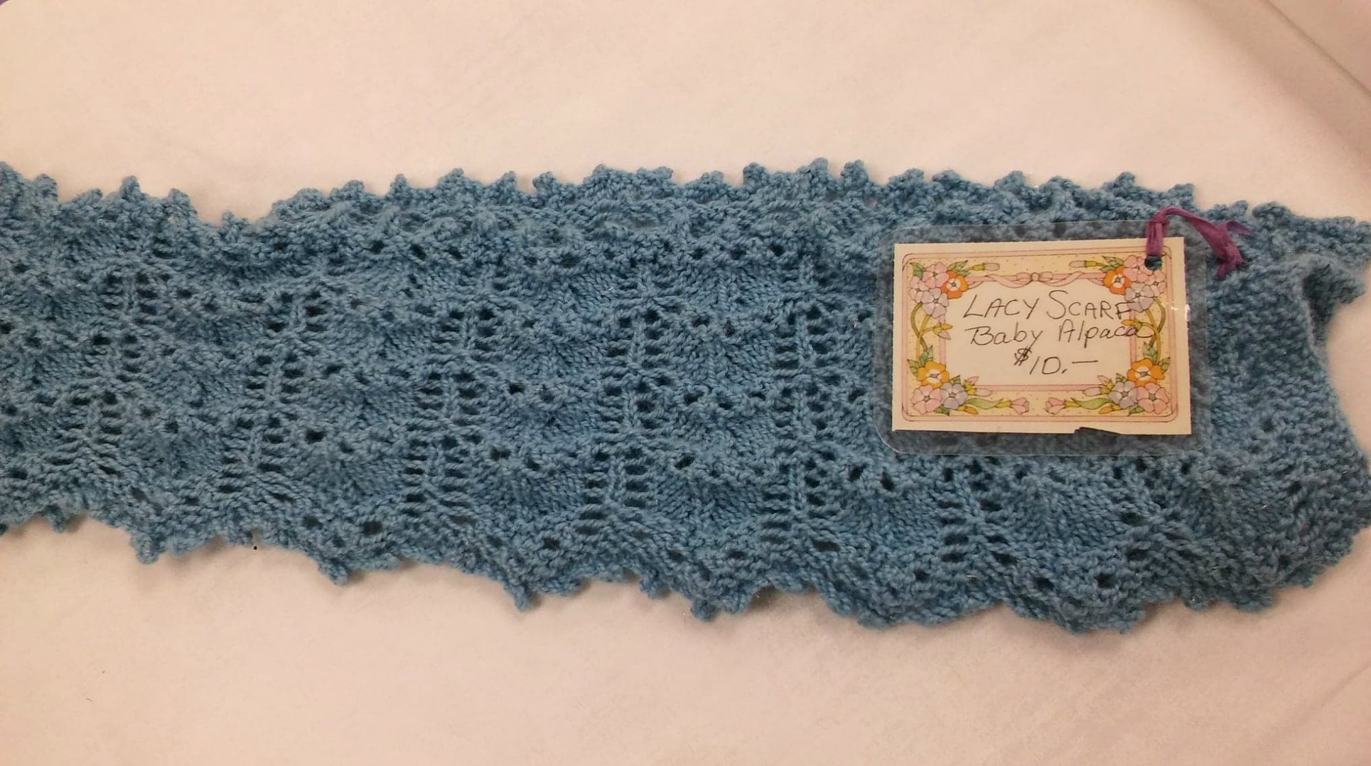 Lacy Scarf made with Baby Alpaca