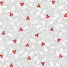 Midwinter Song Light Gray Holly by Studio E