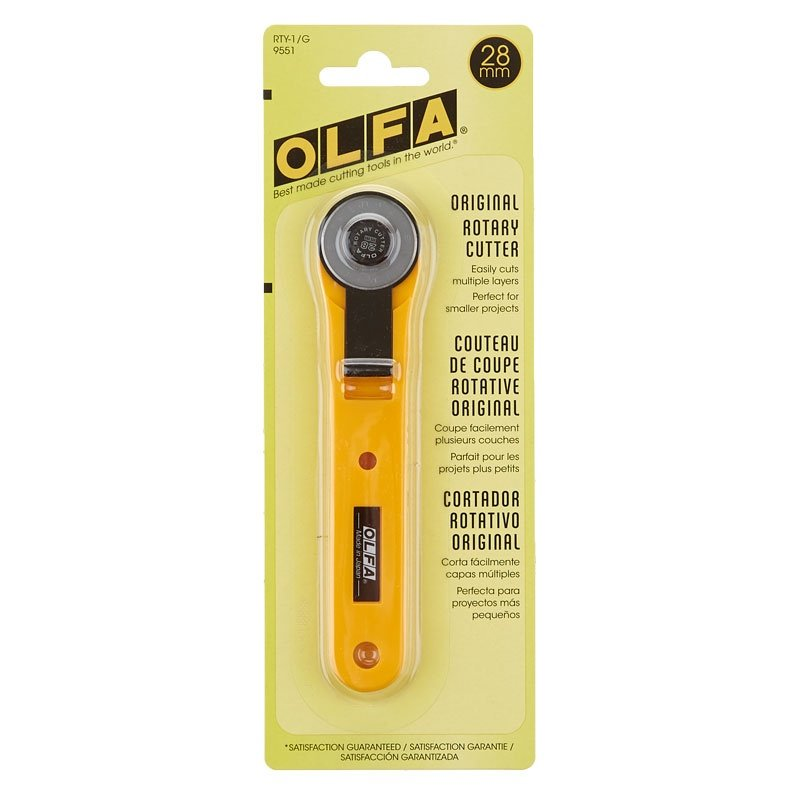 28MM OLFA QUICK CHANGE ROTARY CUTTER