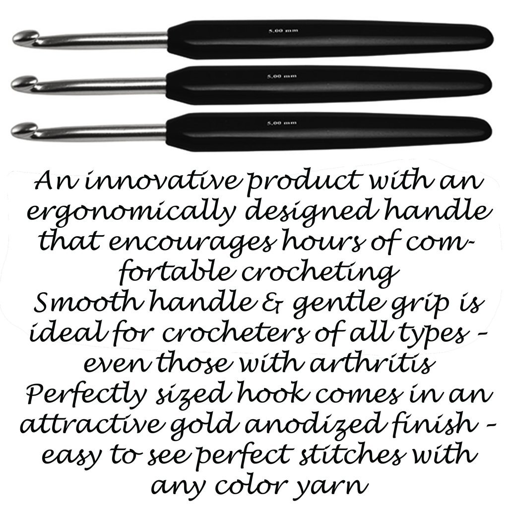 KNITTER'S PRIDE 6 CROCHET HOOK SILVER SOFT TOUCH