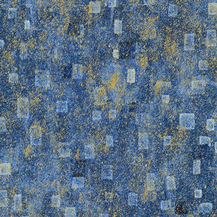 KLIMIT SQUARES BLUE/GOLD BY KAUFFMAN