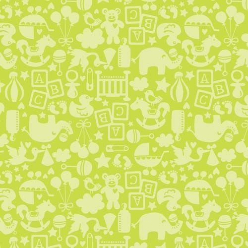 TOSSED TOY DARK LIME by BLEND FABRICS