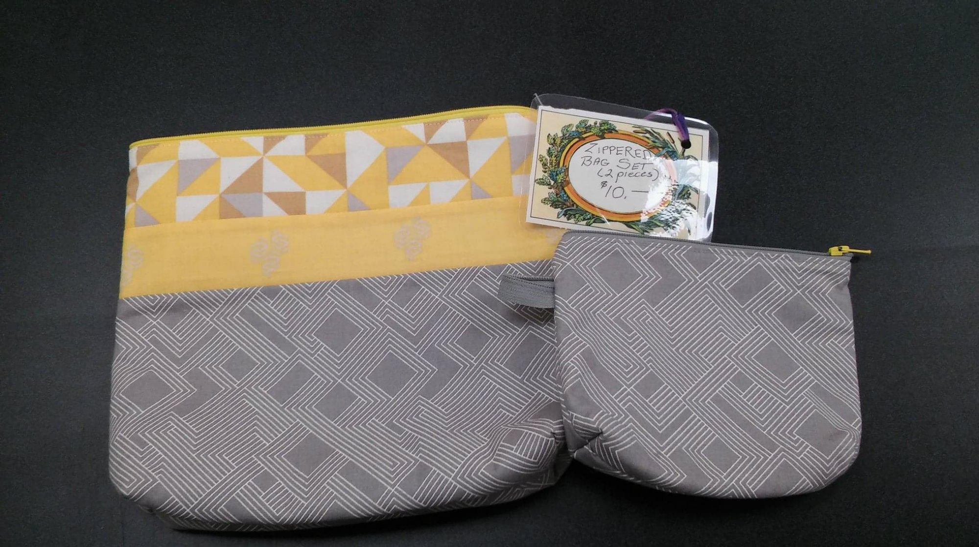 Zippered Bag Set (2 pieces)