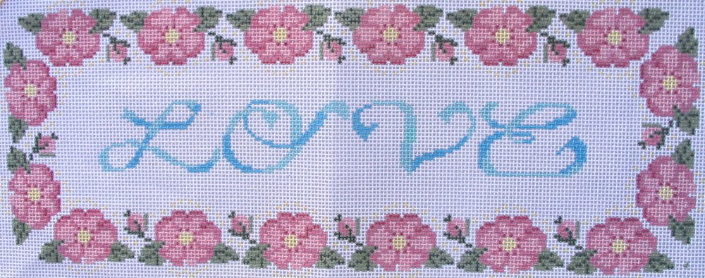 Love with Floral Border