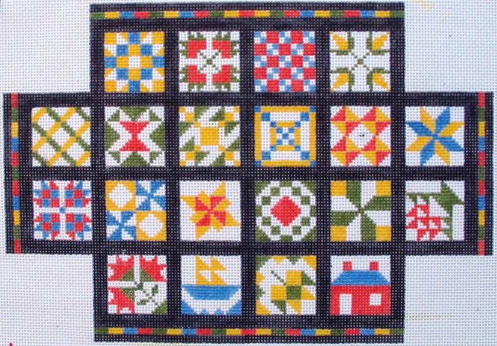 Calendar Quilt Brickcover - bright