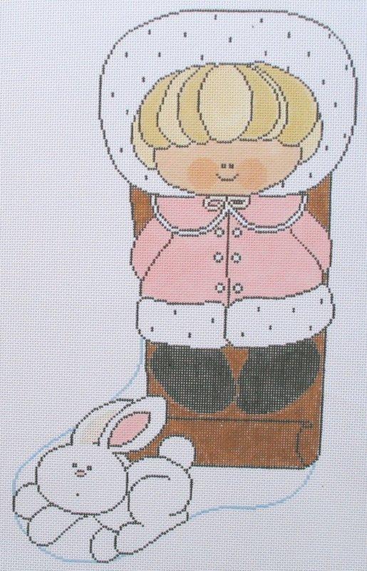 Sledding Bunny - pastel