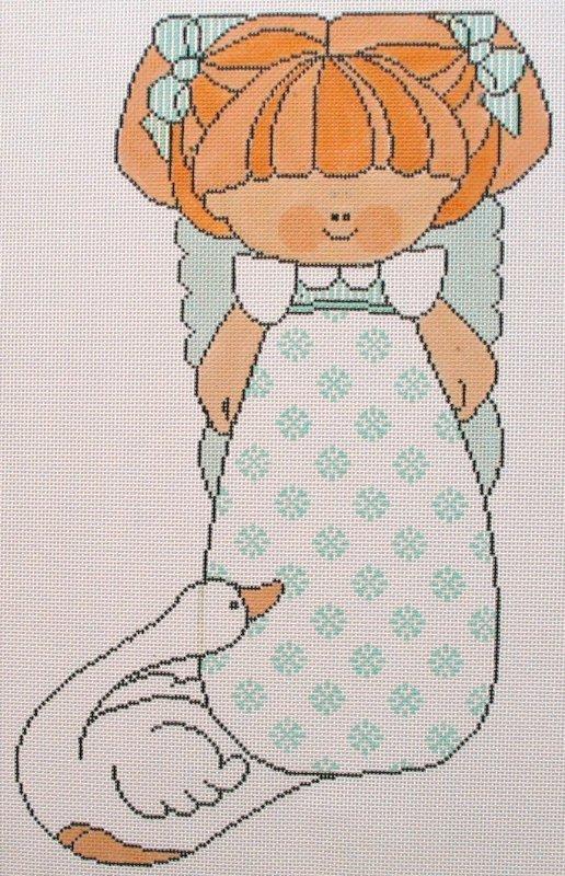 Girl & Goose - pastel