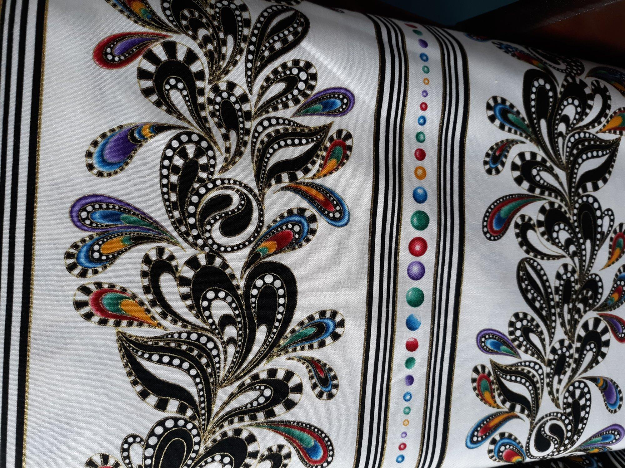 Benartex Purr Fect Stripe White/ Multi