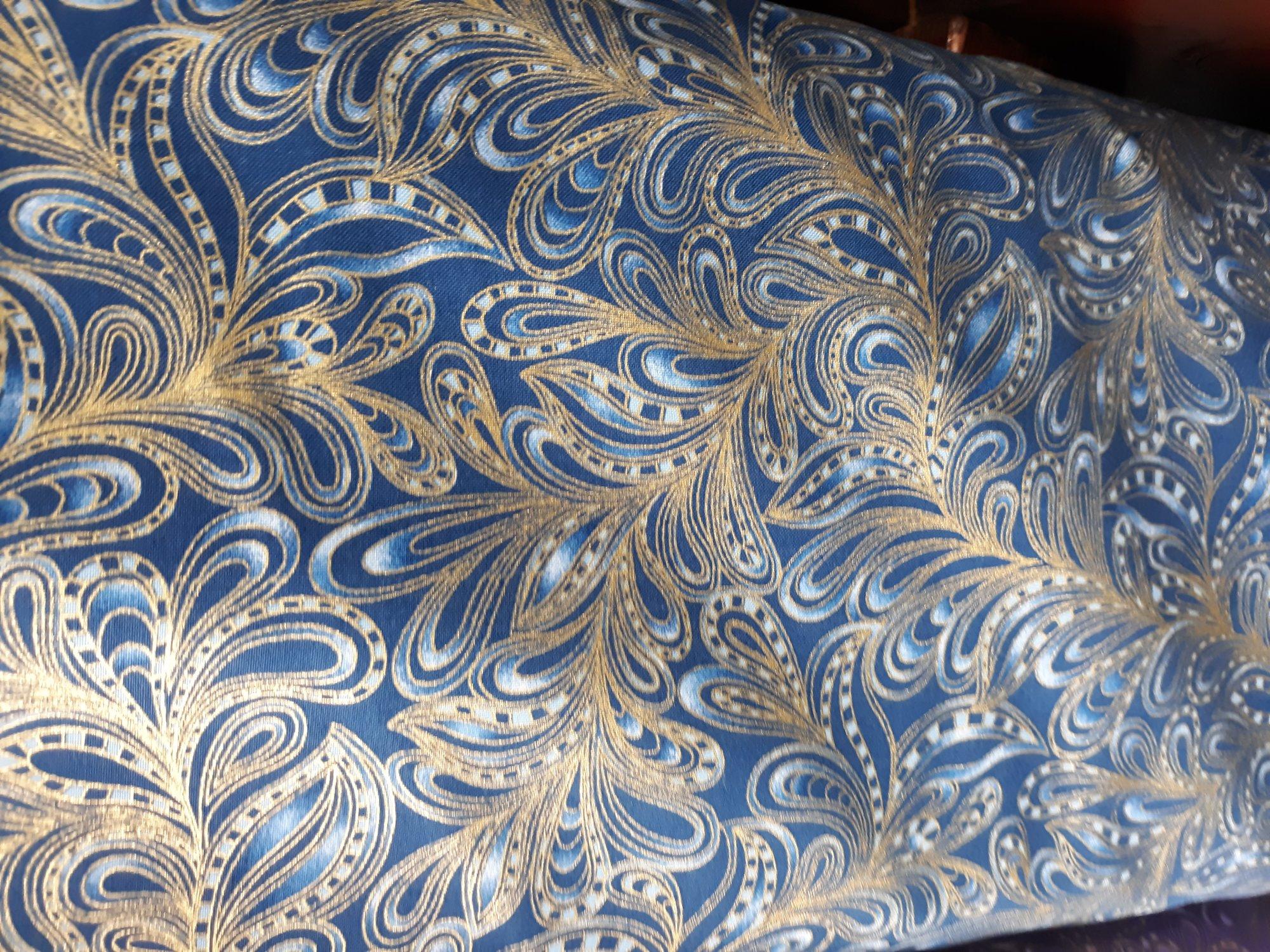 Benartex Featherly Paisley Blue