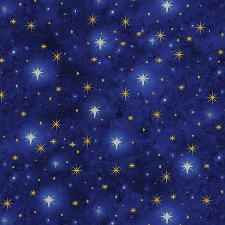Quilting Treasures Holy Gathering - Navy North Star Blender 23304 NY