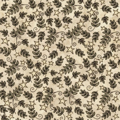 Quilting Treasures - For Love of Country - Cream Small Star & Vine
