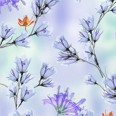 Belle - Floral Branches Periwinkle 26418 - W