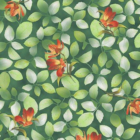 Belle - Flower and Leaf Dk Jade 26419 - G