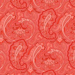 Red All Over Paisley
