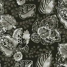 Hoffman Fabrics Bali Chop - Decorative Leaf Pewter K2481-76
