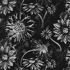 Hoffman Fabrics Bali Chop - Sunflowers Pewter K2491-76