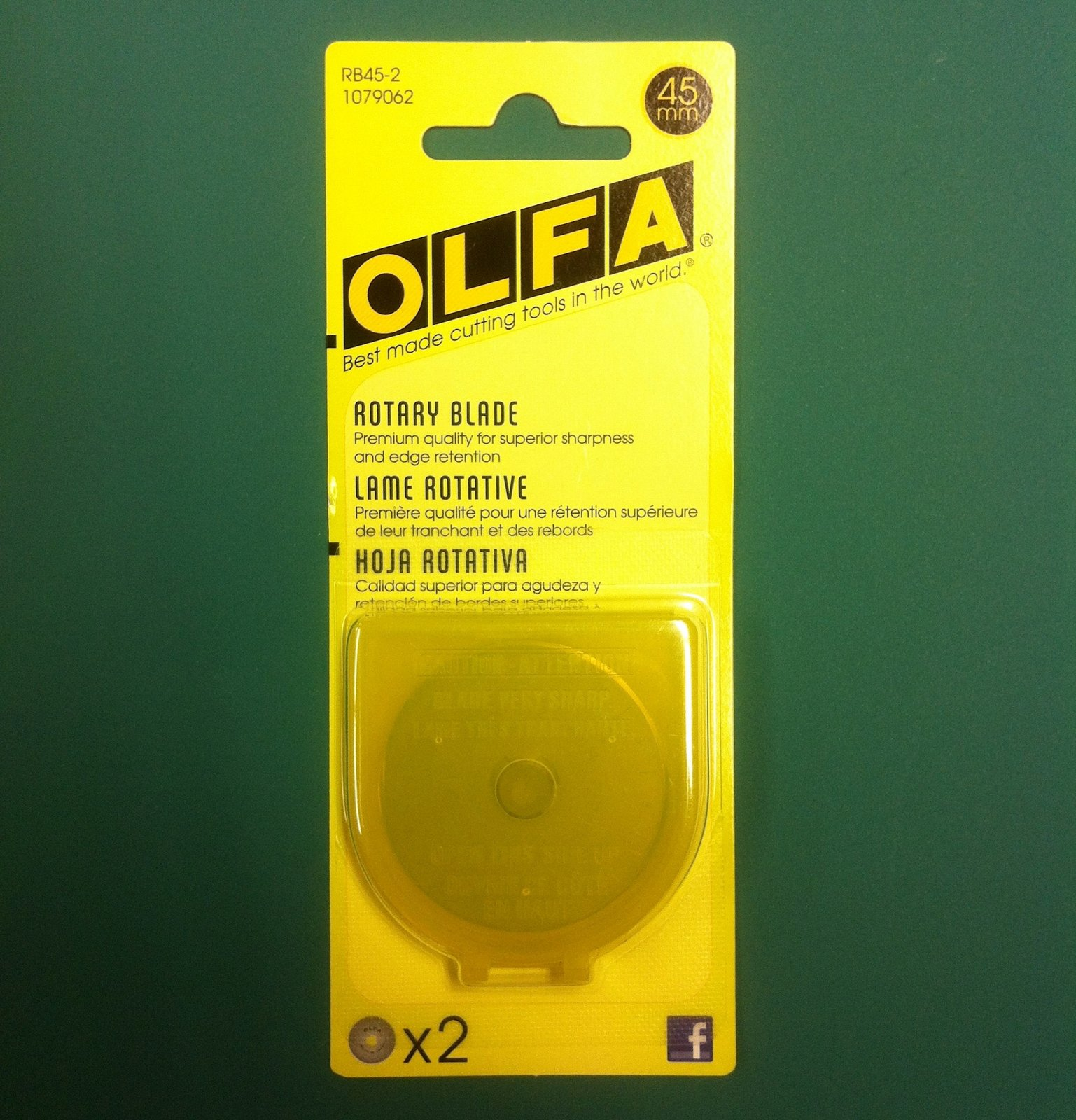 Olfa 45 mm Replacement Rotary Cutter Blade