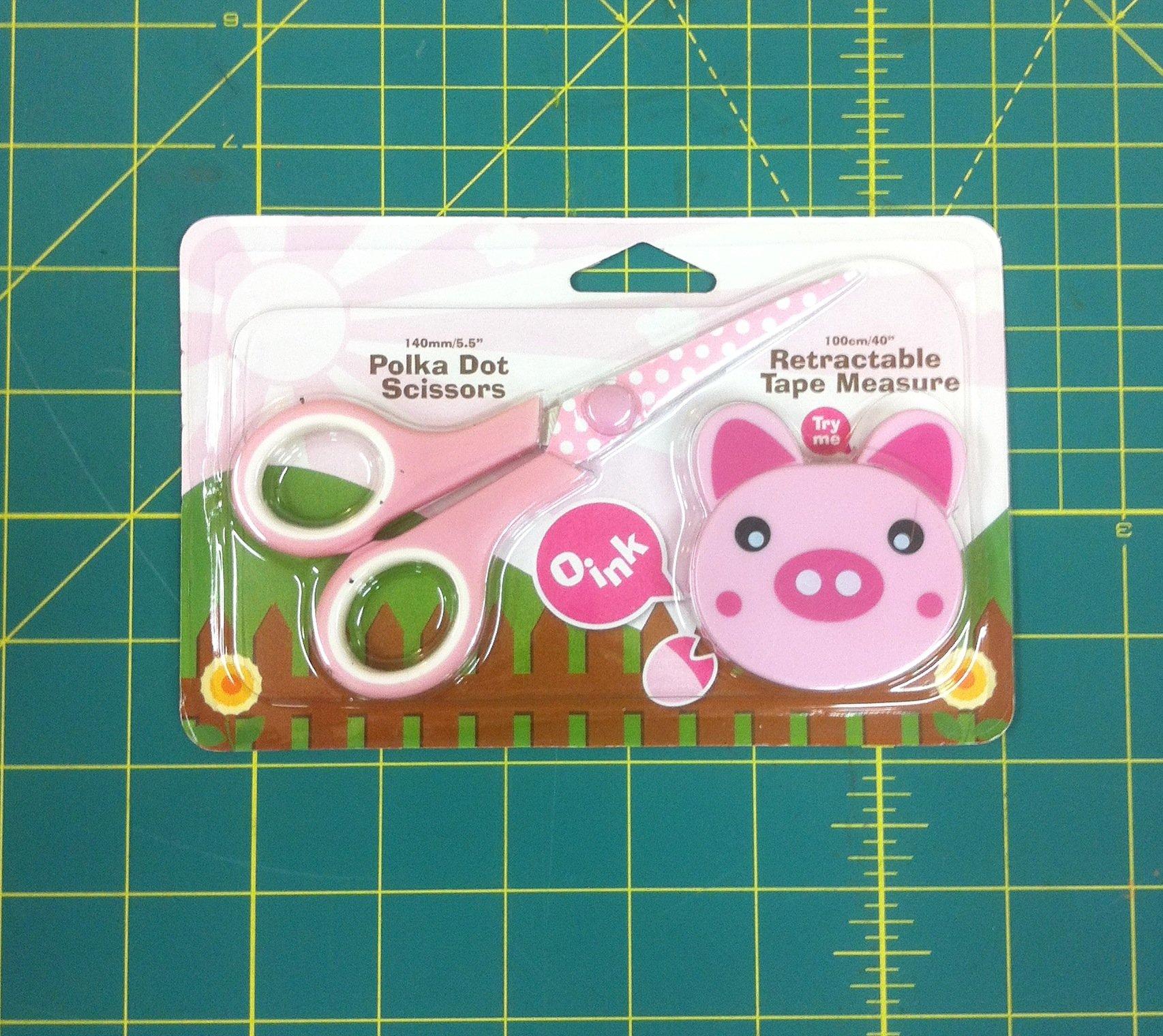 Polka Dot Scissor-Tape Measure Combo