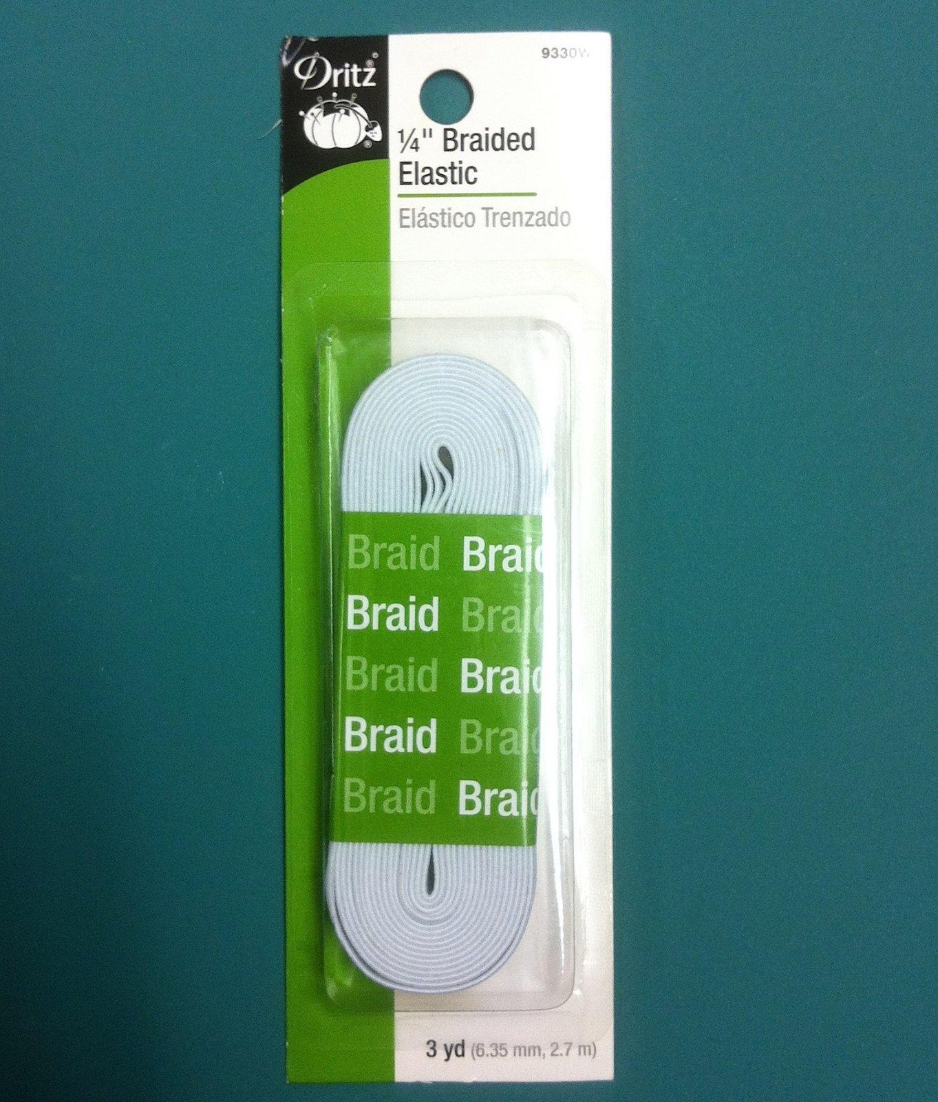 Braided Elastic 1/4