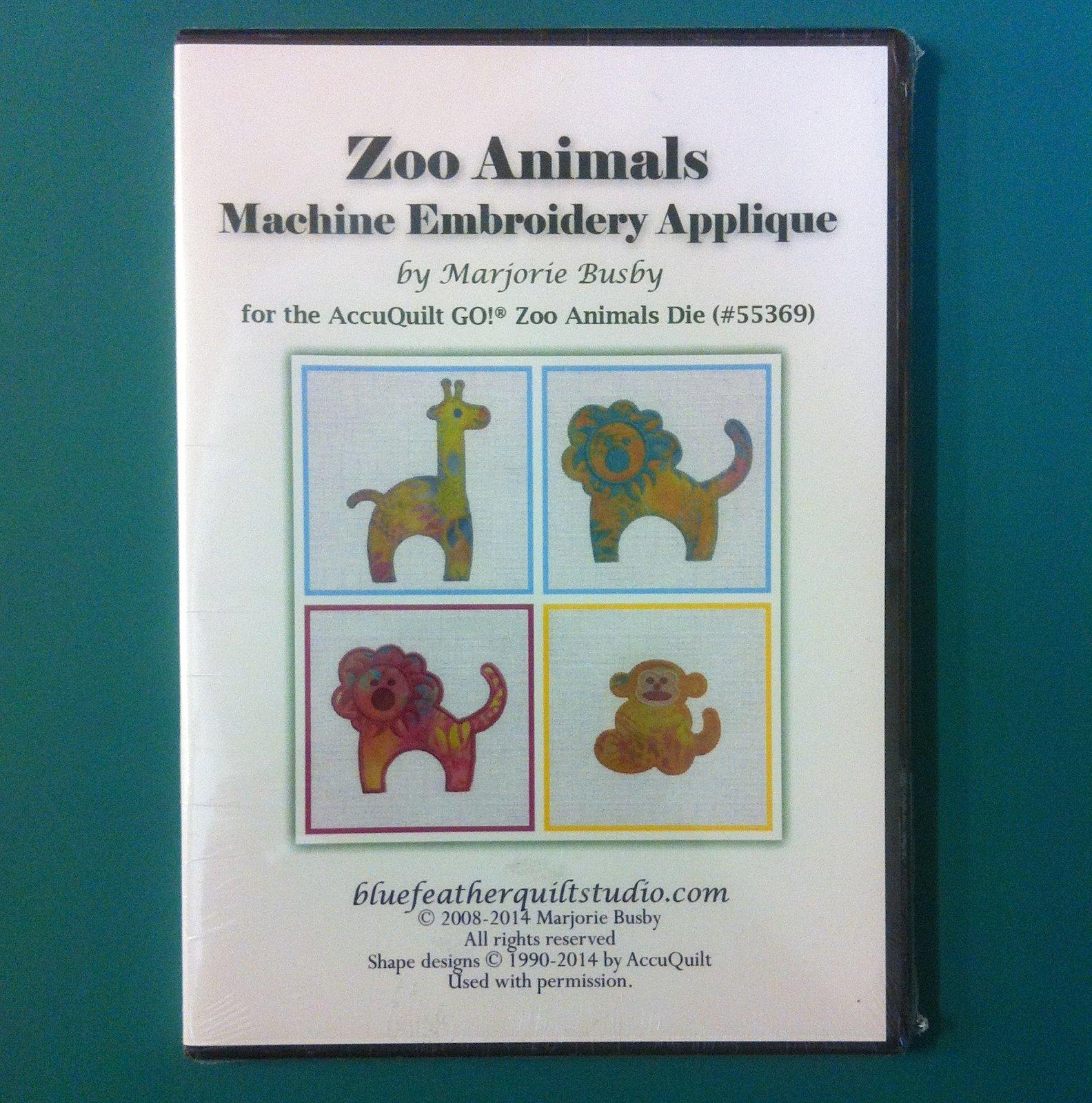 Zoo Animals Machine Embroidery Applique