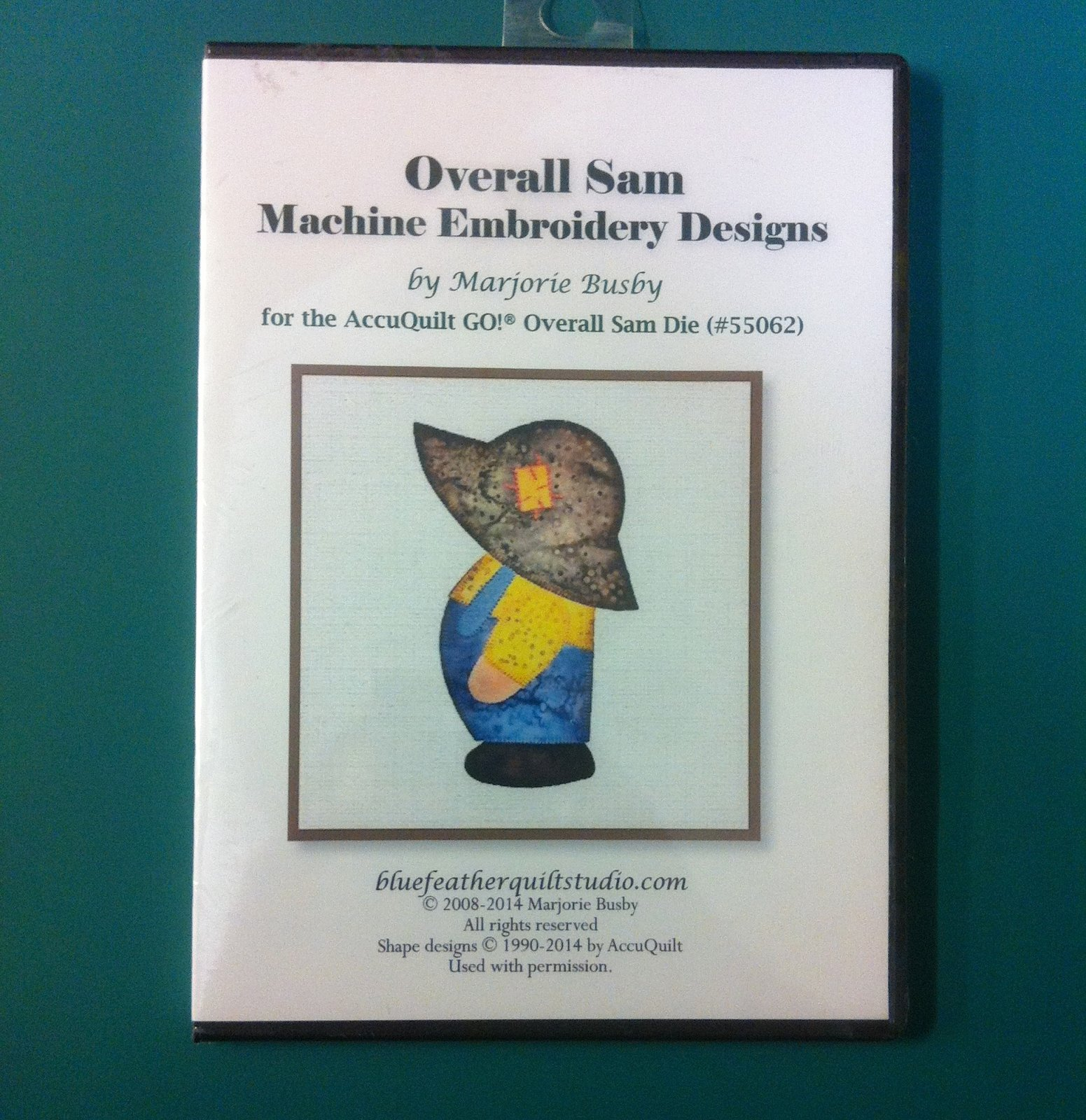 Overall Sam Machine Embroidery Applique