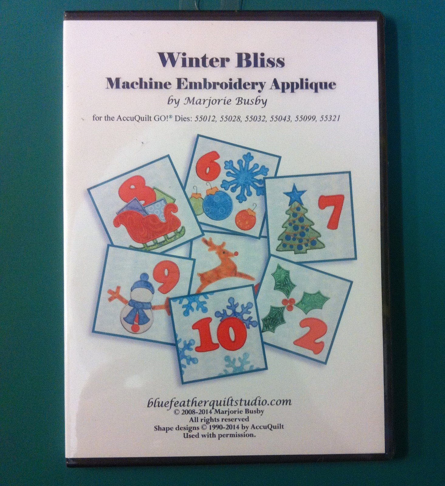 Winter Bliss Machine Embroidery Applique
