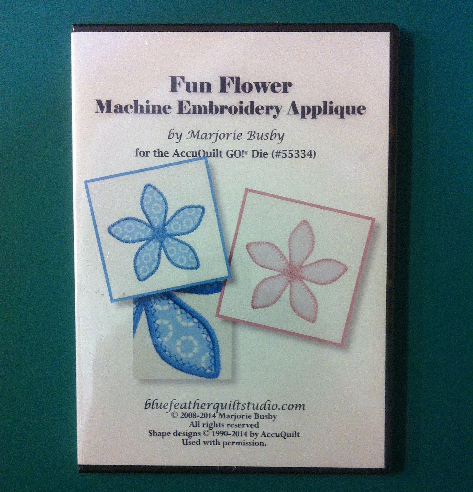 Fun Flower Machine Embroidery Applique