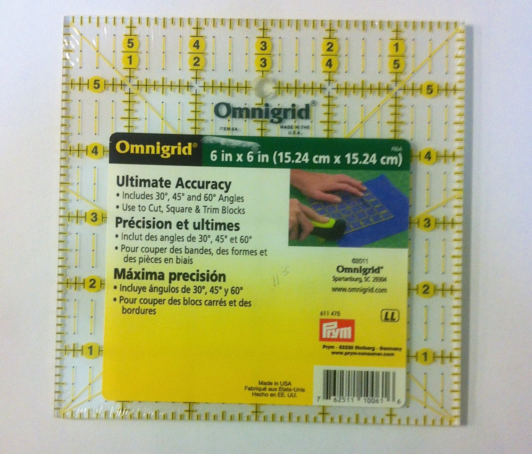 Omnigrid 6X6 in. Ruler