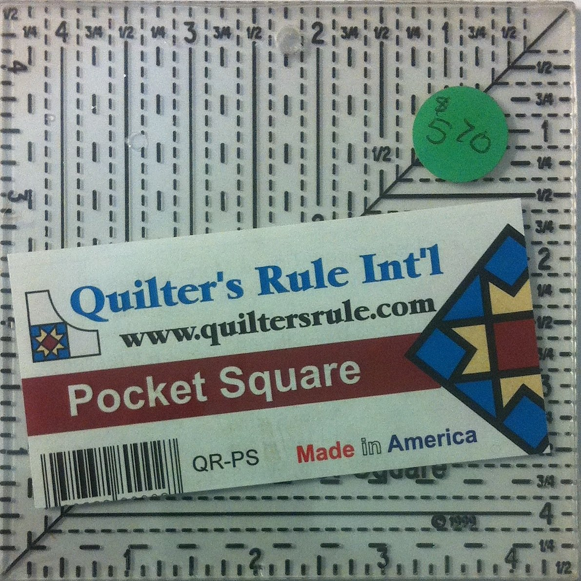 Quilter's Rule Pocket Square Ruler