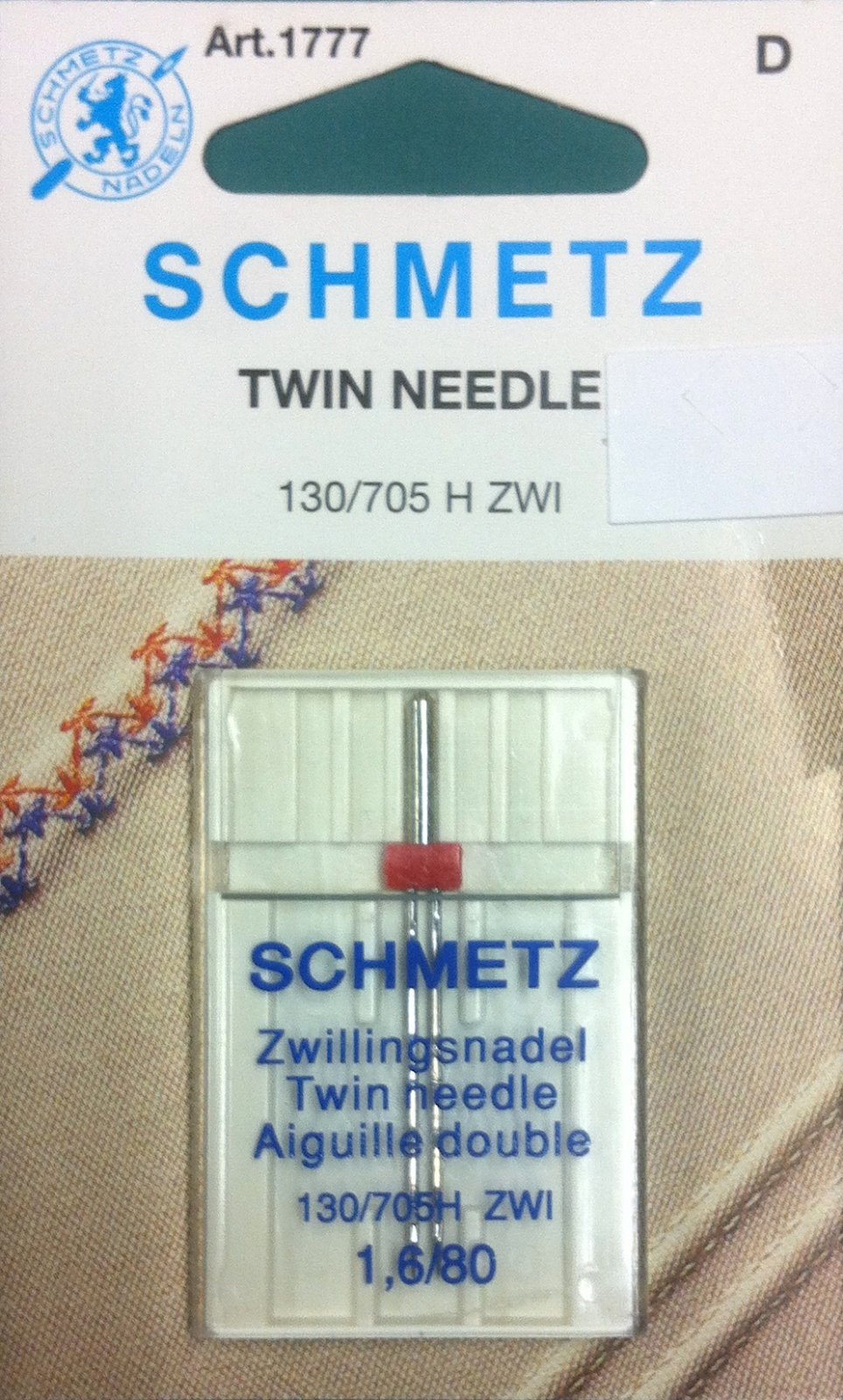 Schmetz Twin Needle 1.6/80