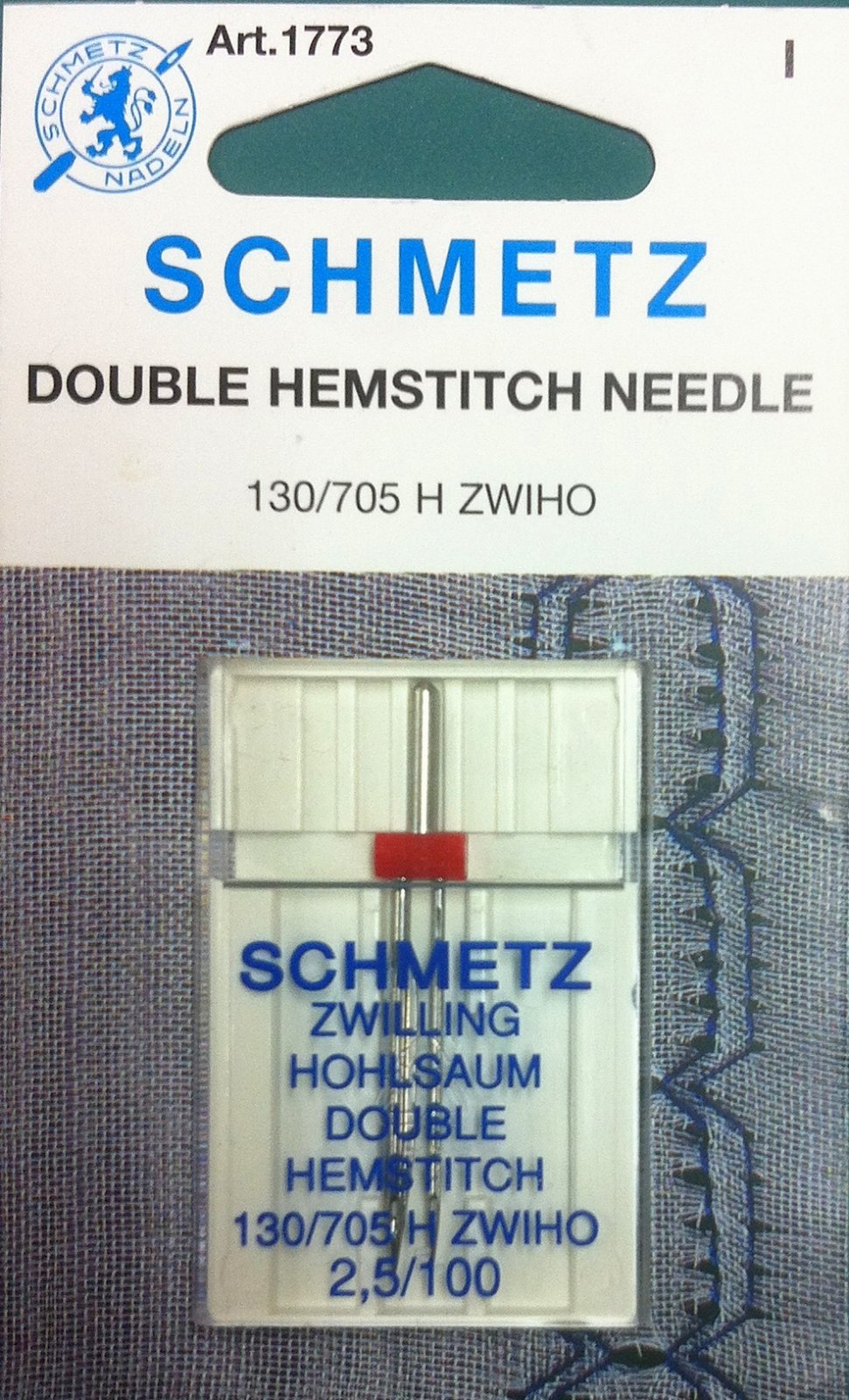 Schmetz Double Hemstitch Needle 2.5/100
