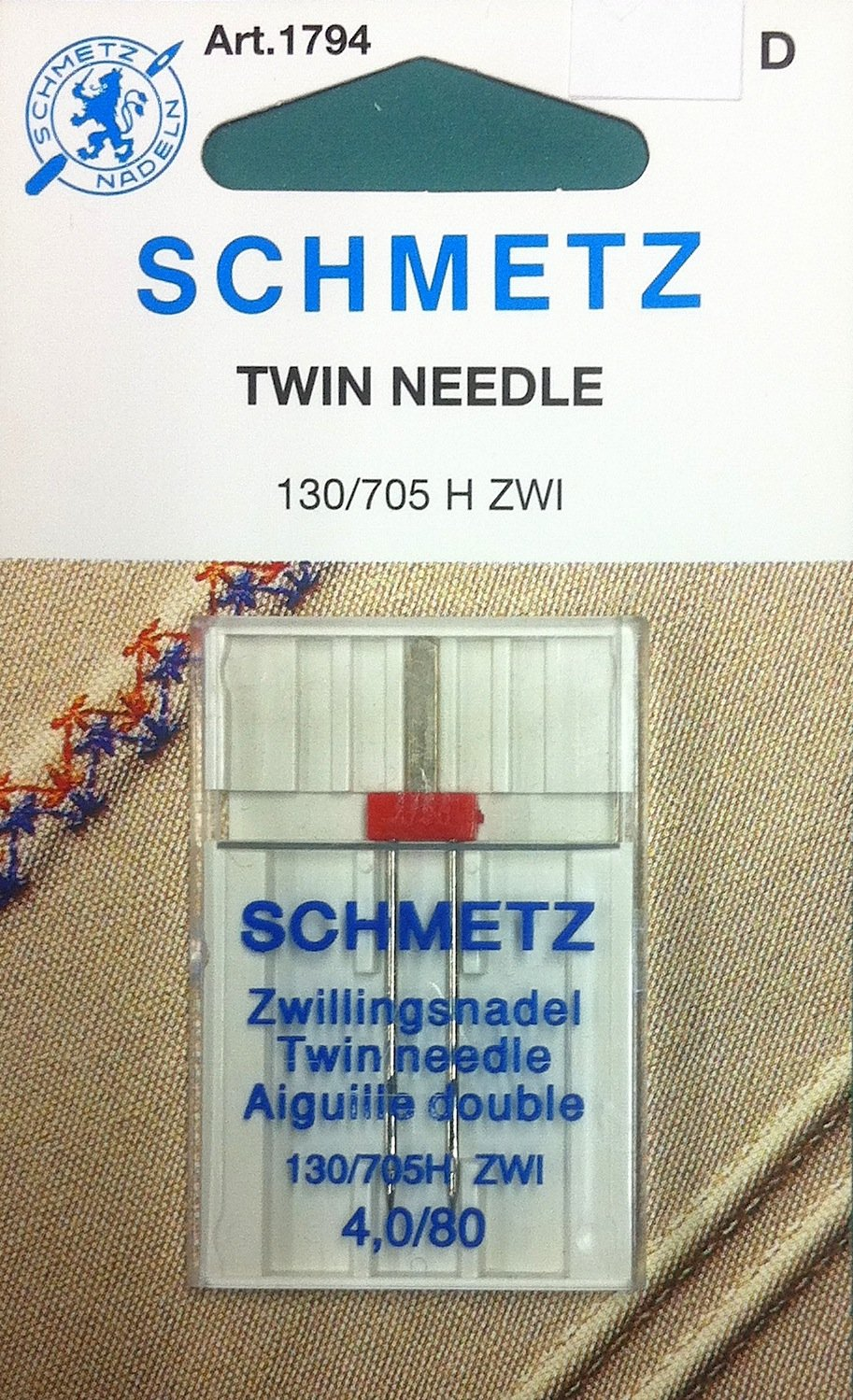 Schmetz Twin Needle 4.0/80