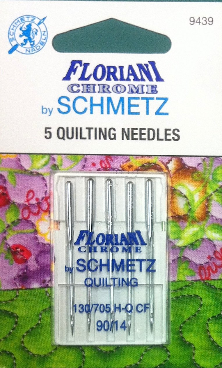 Schmetz Floriani Chrome Quilting Needles 90/14