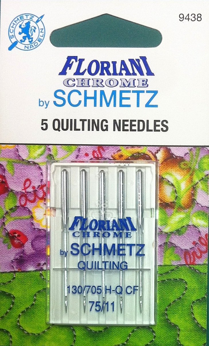 Schmetz Floriani Chrome Quilting Needles 75/11