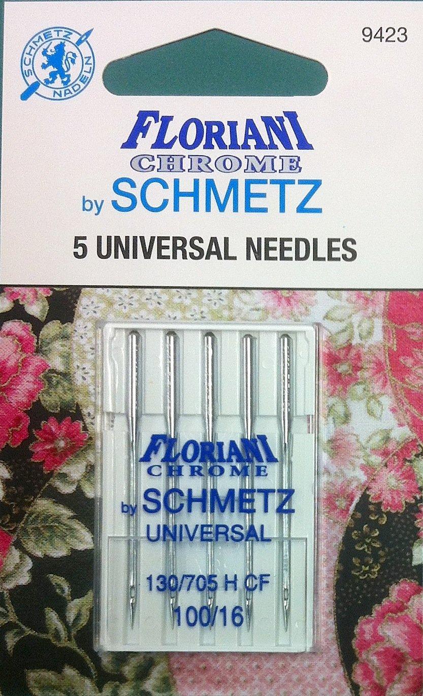 Schmetz Floriani Chrome Universal Needles 100/16