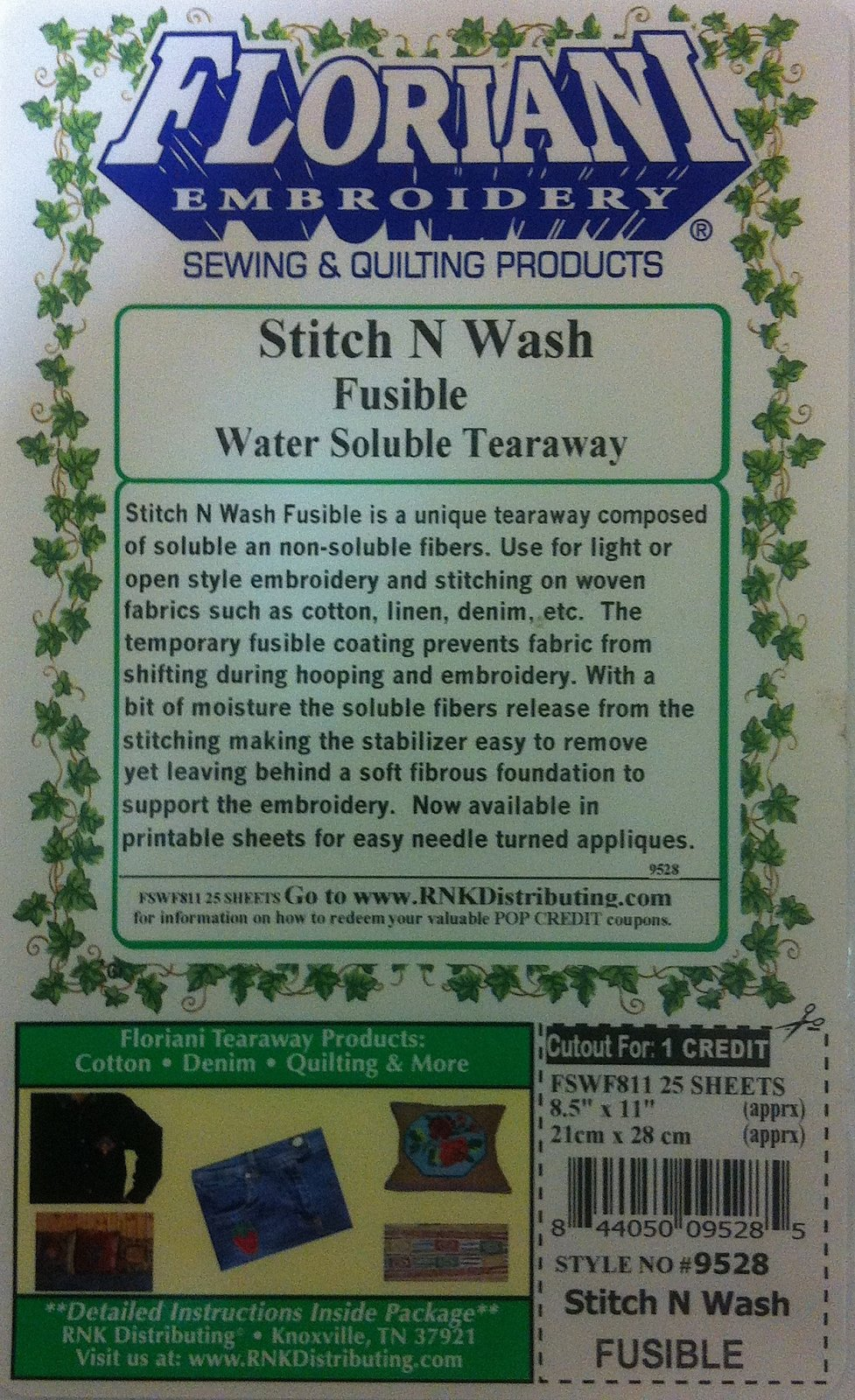 Stitch N Wash Fusible Sheets