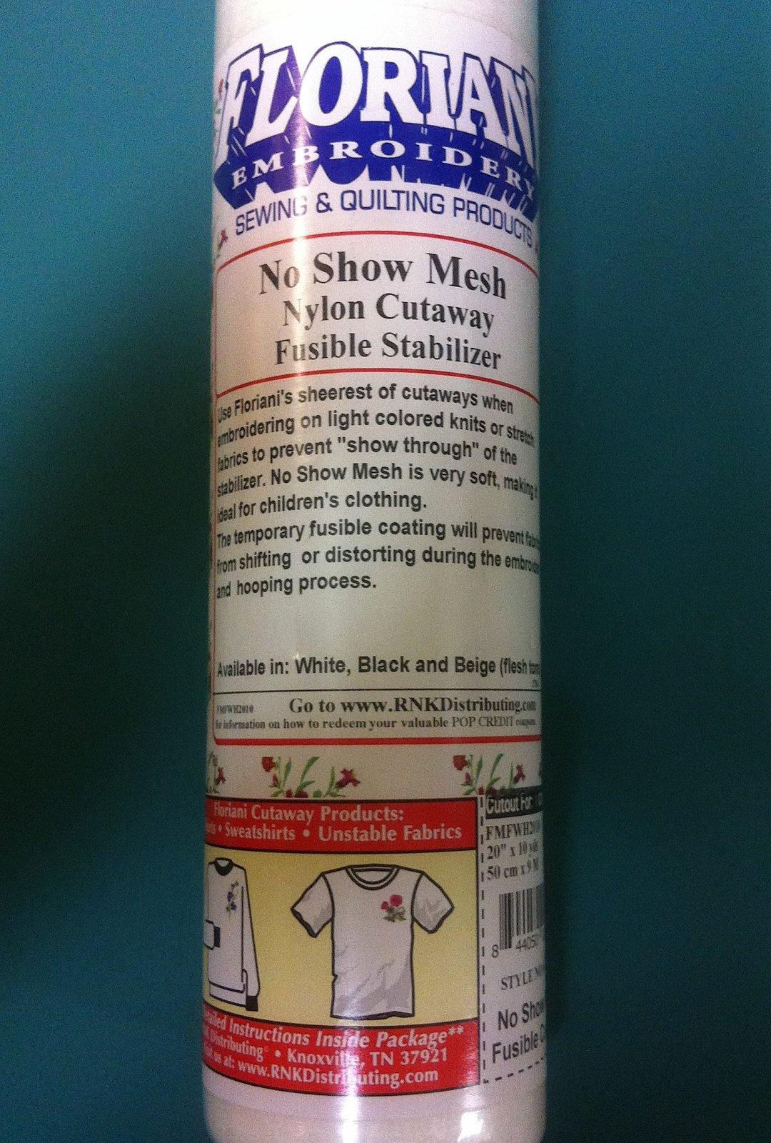 No Show Mesh Nylon Cutaway Roll 20 X 10 yds