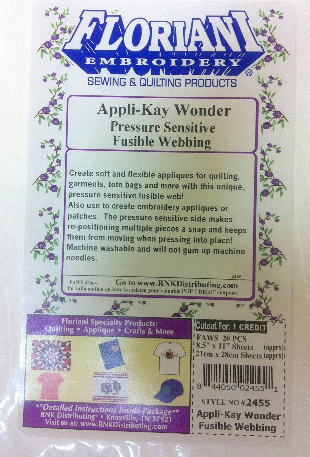 Appli-Kay Wonder 8.5 X 11 Sheets 20 ct