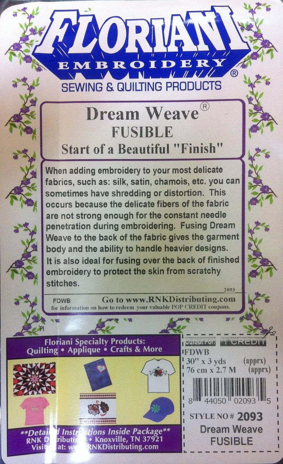 Dream Weave Fusible Black 30 X 3 yds