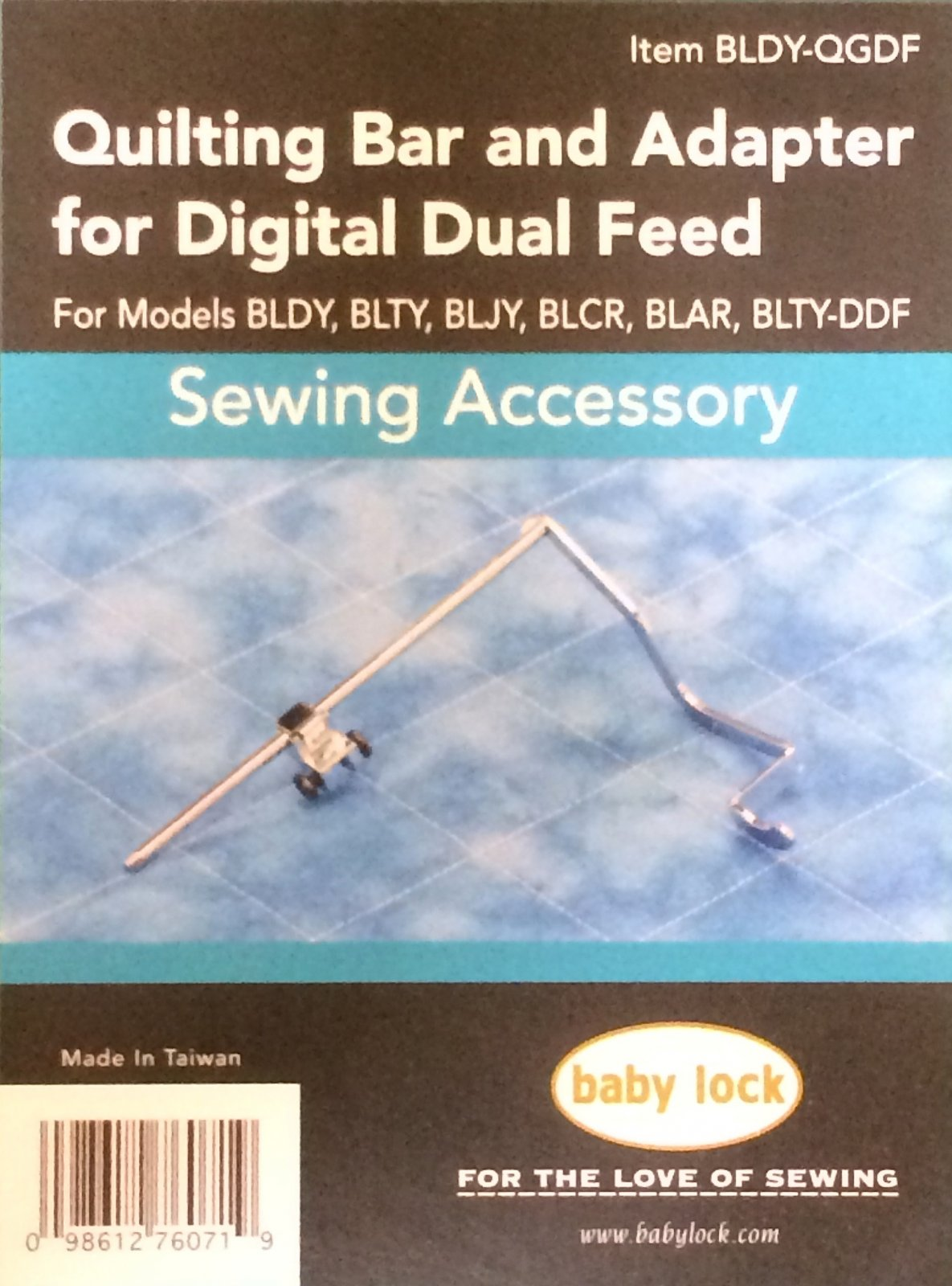 Quilting Bar and Adapter for Digital Dual Feed