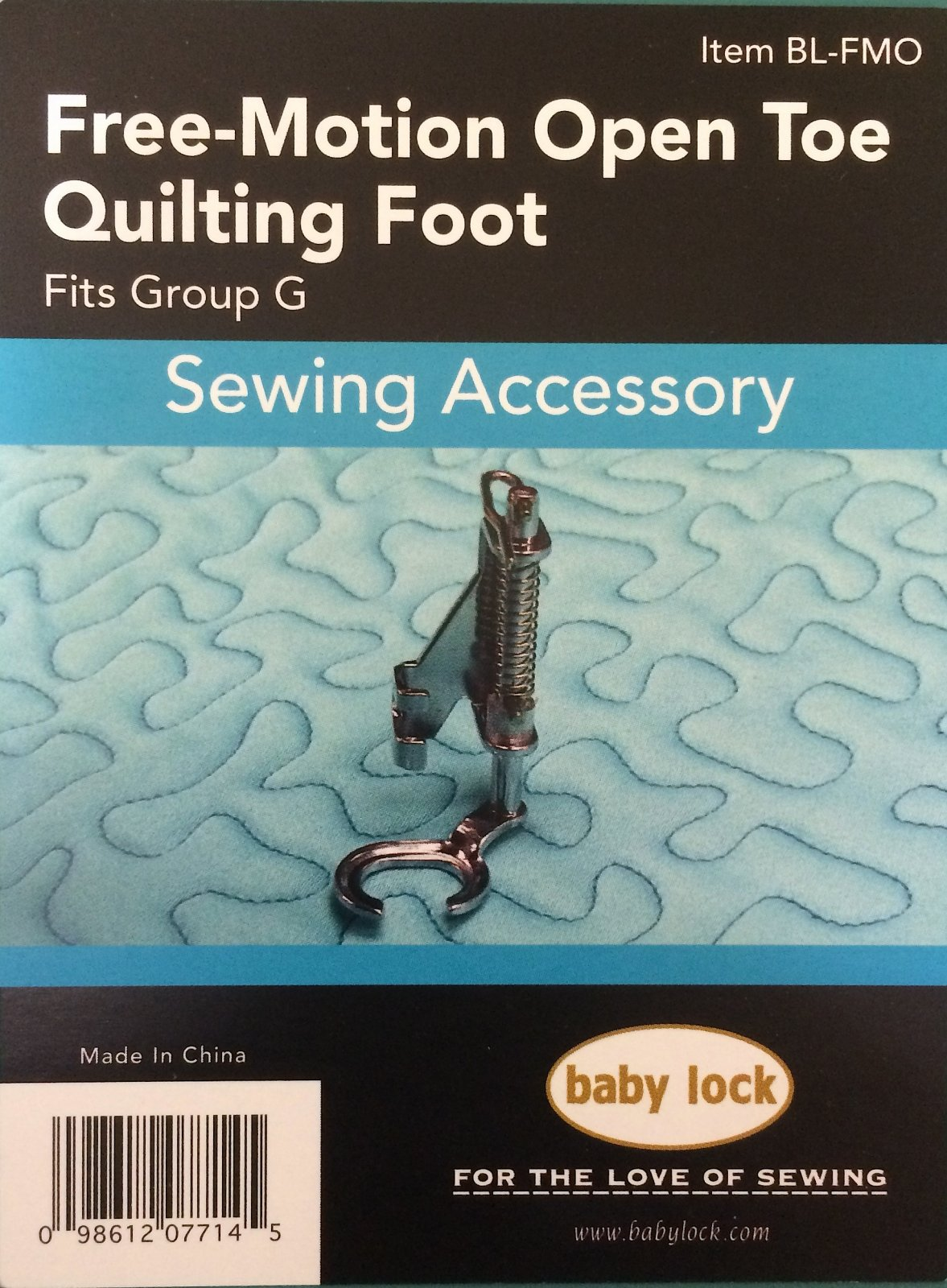 Free Motion Open Toe Quilting Foot
