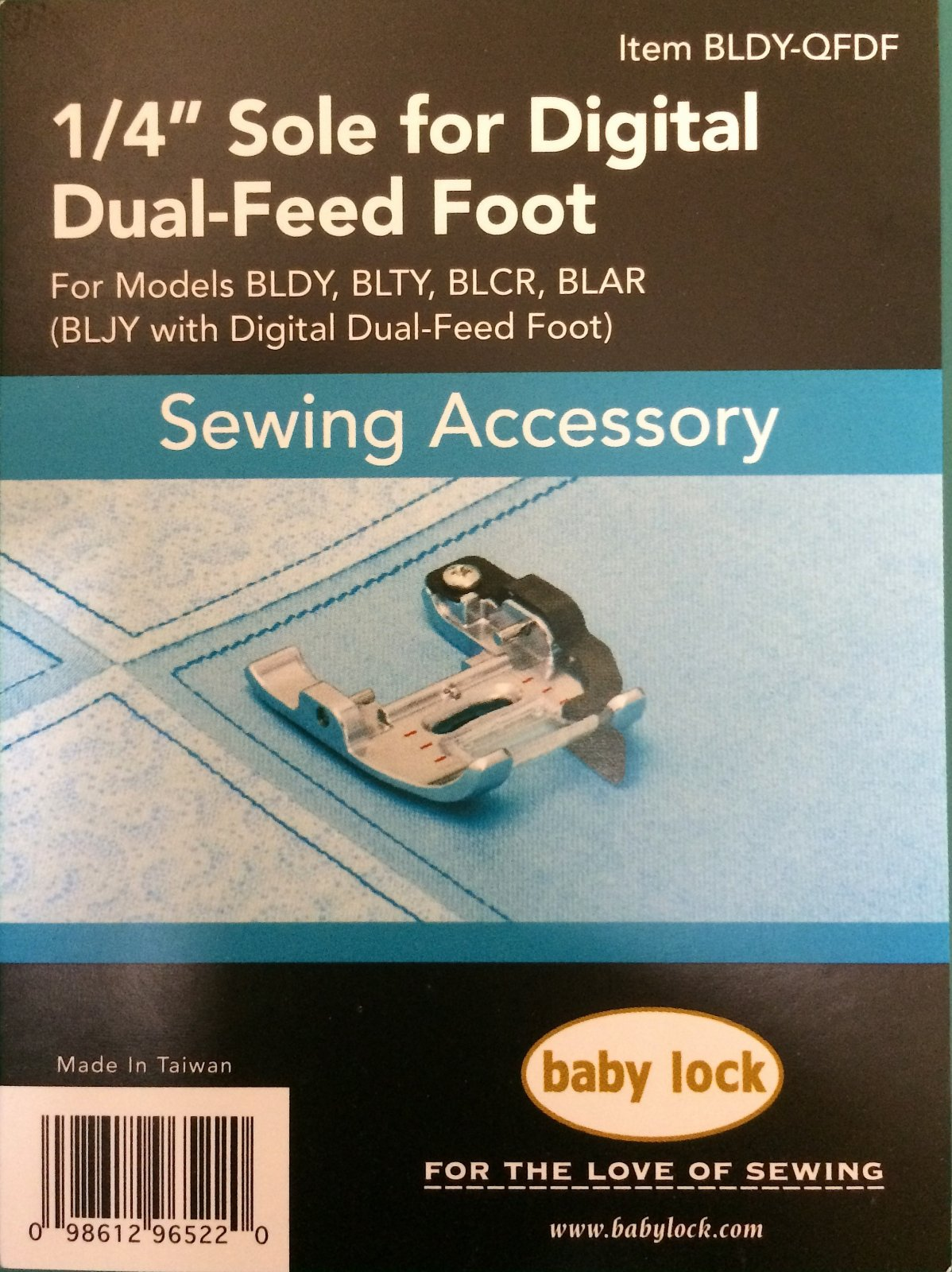 1/4 Sole for Digital Dual-Feed Foot