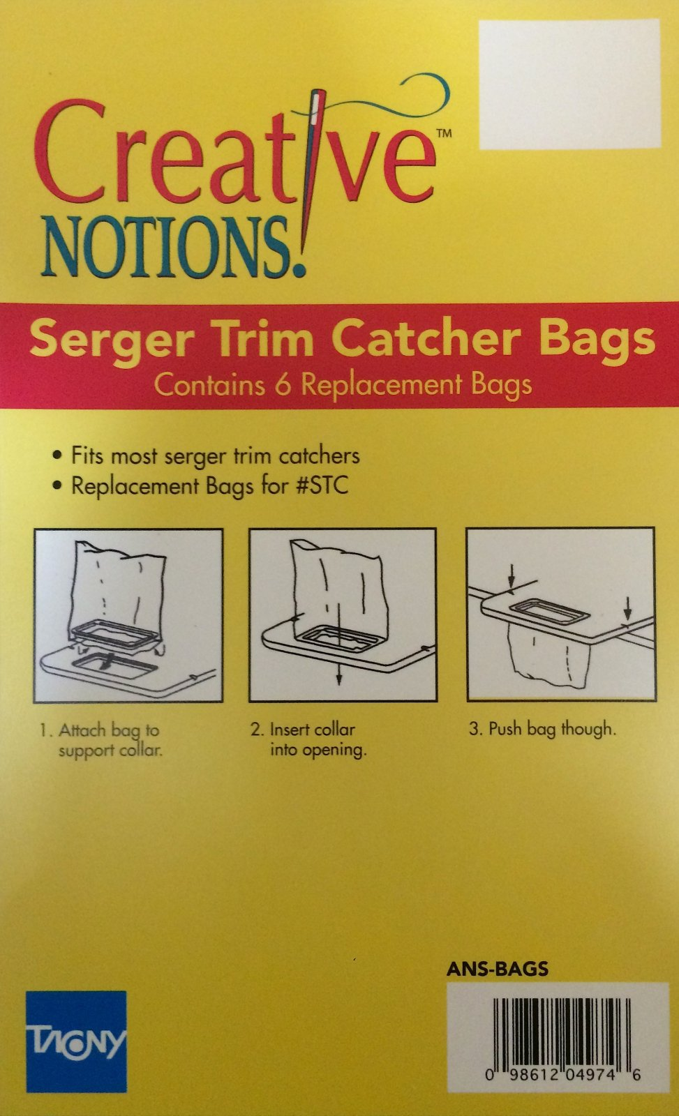 Serger Trim Catcher Bags