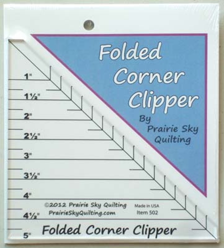 Folded Corner Clipper Template