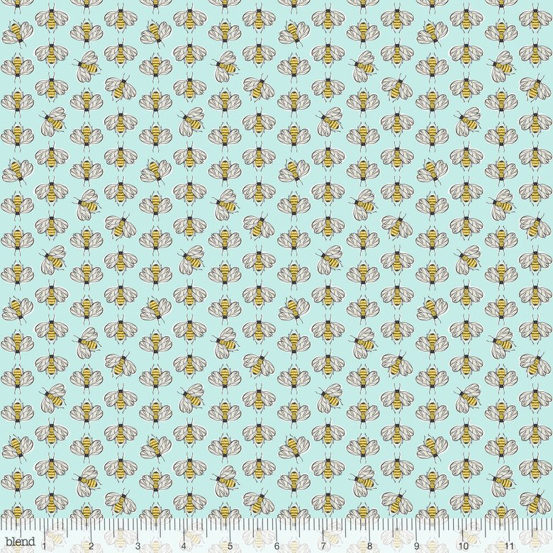 For the Love of Bees - Bumbly Bee Light Blue