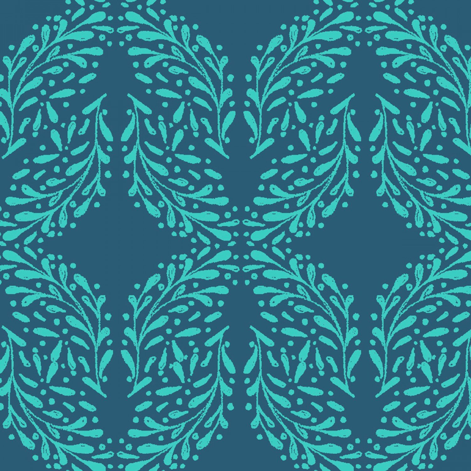 Little Thicket - Navy Leaves
