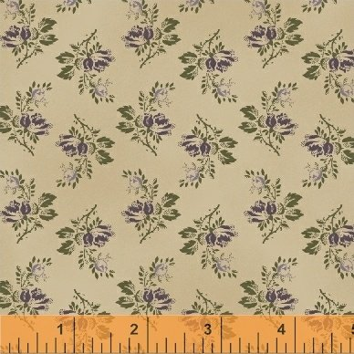 Cream Purple Floral