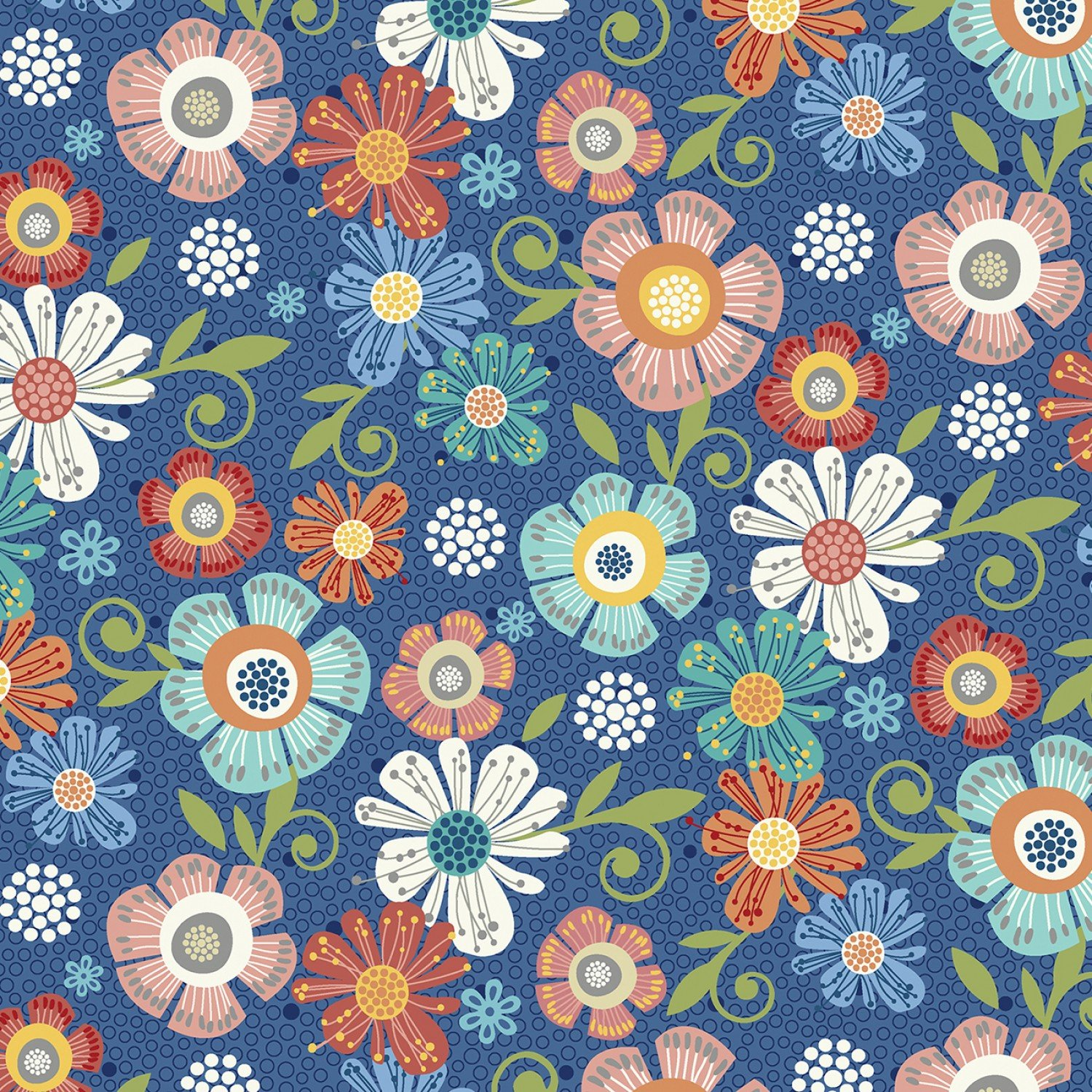 Home Grown - Navy Floral