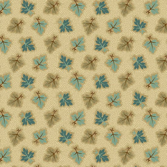 Mailing Road - Oak Leaves - Brown Teal